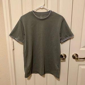Men's UNIQLO Grey Shirt